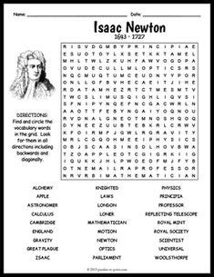isaac newton biography worksheet 136 best history for images in 2019 crossword