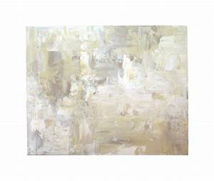 White abstract painting large acrylic wall art by