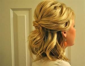 Updos For Medium Hair Half Up Half Down Half Up Half Down ...