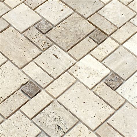 self adhesive travertine mosaic tiles beige tm33435