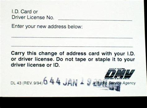 change of address dmv florida cost