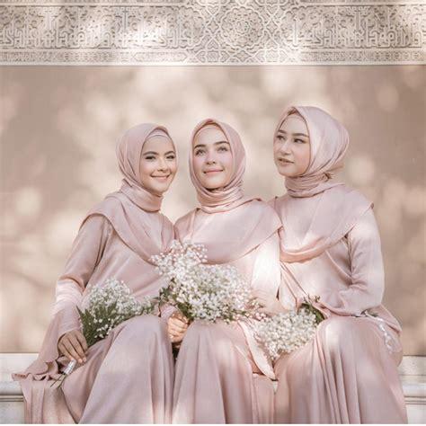 Gamis Muslim M058 Dia Dress wah ini dia ide gaun bridesmaid untuk hijabers yang