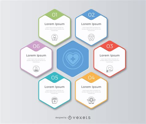 business development plan template honeycomb infographic template vector download