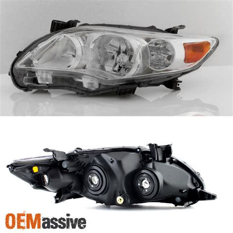 new pair 2011 2012 2013 toyota corolla headlights