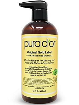 Amazon.com: PURA D'OR Original Gold Label Anti-Thinning