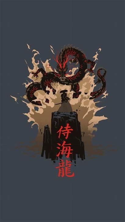Aesthetic Samurai Japanese Wallpapers Oni Iphone Cartoon