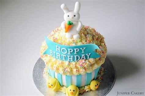 hoppy birthday giant cupcake juniper cakery bespoke