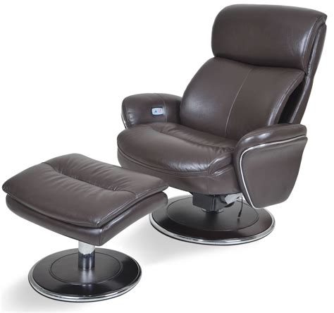 big ergonomic leather espresso chair ottoman from