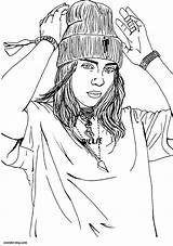 Billie Eilish Coloring Dibujos Colorear Imprimir Gratis Glasses Wonder Descargar sketch template
