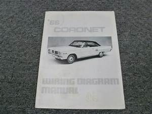 1966 Dodge Coronet Electrical Wiring Diagrams Manual