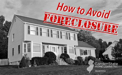 how to avoid foreclosure a brief overview garden state