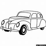 Coloring 1939 Lincoln Studebaker Pages Cars Zephyr Door Template Thecolor sketch template