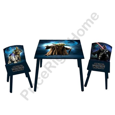 star wars table l star wars table chairs set new and official kids