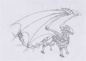 Robot dragon -unfinished- by User96 on DeviantArt