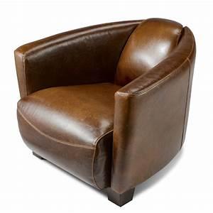 petit fauteuil club cuir idees de decoration interieure With petit fauteuil en cuir