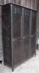 Casier Vestiaire Industriel : vestiaire rivete 3 portes embouti 39 gantois 39 vers 1930 mettetal industry design industriel du ~ Teatrodelosmanantiales.com Idées de Décoration