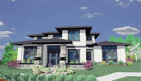 contemporary prairie style house plans chic modern prairie style house plans house style design
