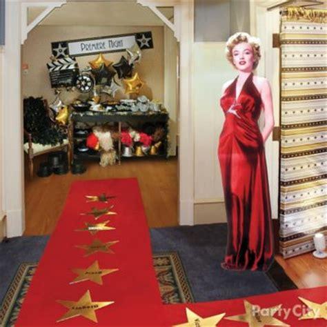 theater popcorn bar decorating idea red carpet