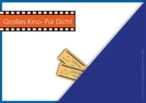 geschenkgutschein kino kostenlose vorlage zum