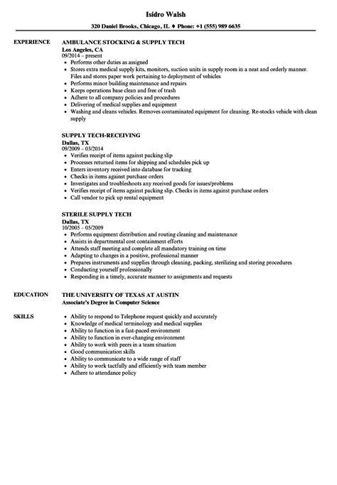 Tech Resume by Supply Tech Resume Sles Velvet