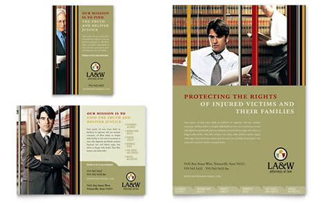 lawyer law firm brochure template design
