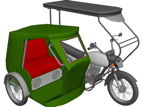 tricycle philippines tricycle philippines 3d model 3d cad browser