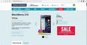 Z10 at carphone warehouse 14995 gbp blackberry for Blackberry z10 carphone warehouse leak