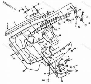 Polaris Snowmobile 1998 Oem Parts Diagram For Nosepan 600