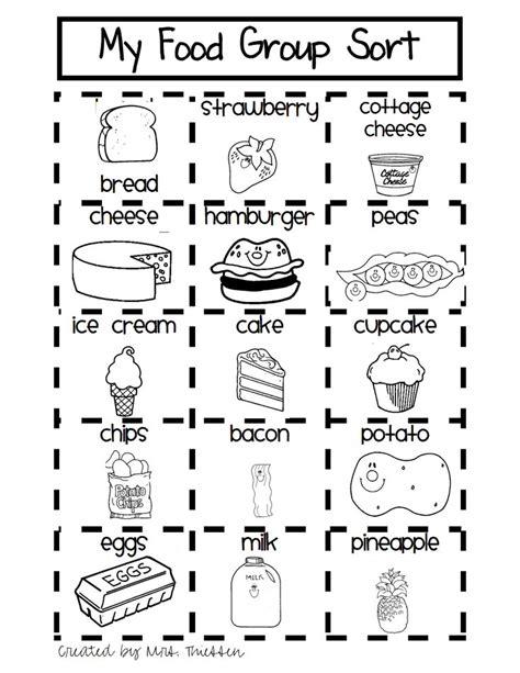 grade nutrition worksheets firstgrade