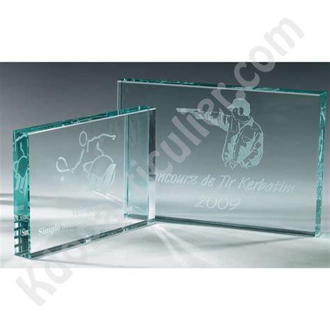 plaque de verre troph 233 e en verre 224 personnaliser plaque de verre bleut 233 233 paisse