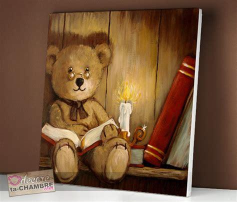 decore ta chambre tableau ourson bibliothque pour la dco vente tableau