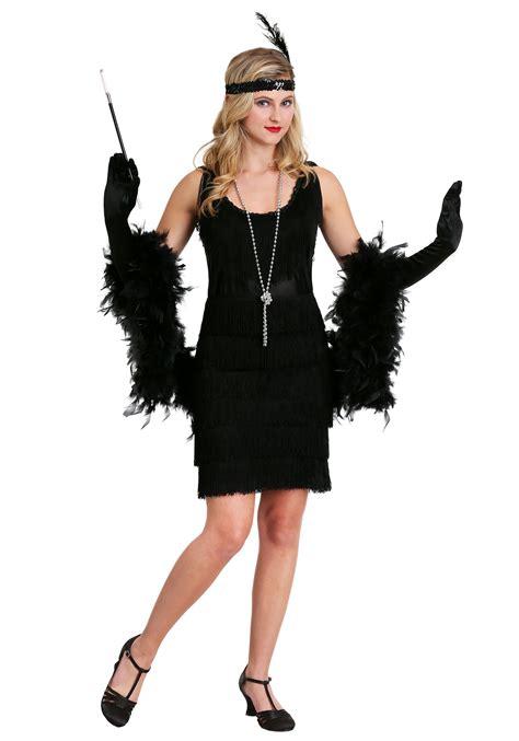 Flapper Plus Size Black Dress - Womenu0026#39;s Flapper 1920u0026#39;s Costumes