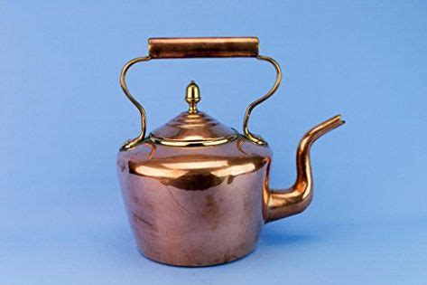 large copper kettle tapered victorian burt brothers antique english late  century brass hot