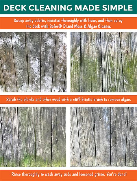 remove algae   wood deck