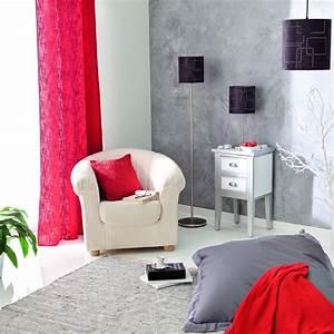 Deco Avec Du Gris : d co salon gris framboise ~ Zukunftsfamilie.com Idées de Décoration