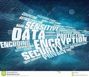 Data Encryption Background Stock Illustration