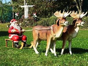 Weihnachtsmann Deko Aussen : xxl 2x rentier schlitten weihnachtsmann santa ~ Orissabook.com Haus und Dekorationen