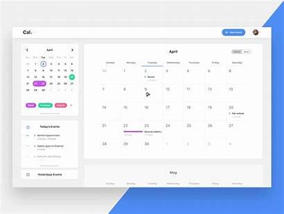 Calendar Desktop App Web Dribbble Ui Inspiration