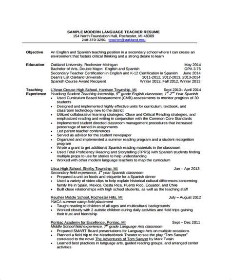 sample resume  documents   word