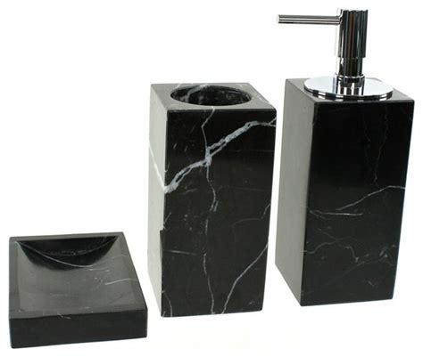 nameeks black marble bathroom accessory set   pieces