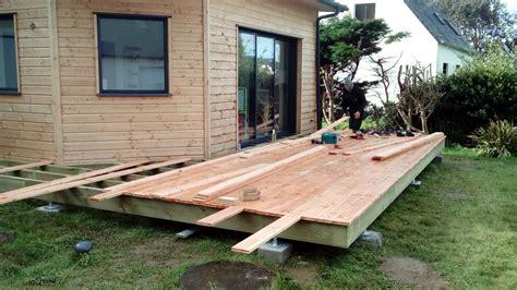 module de cuisine terrasse bois en pin douglas landéda maisons bois acacia