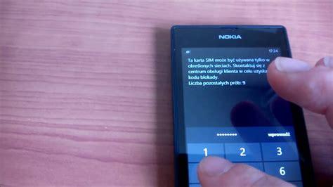 jak odblokować simlock w nokia lumia 520 za pomocą kodu