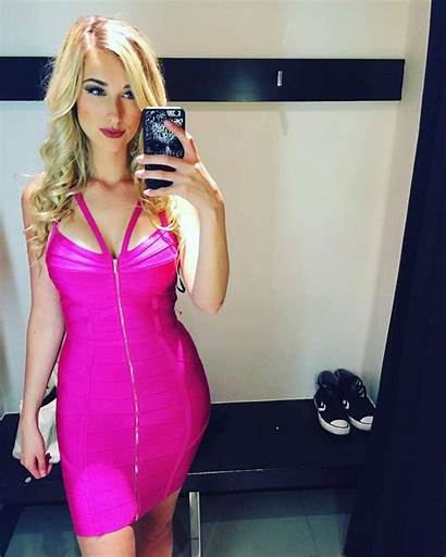 Noelle Foley Pink Tight Tightdress Thread Pinkomatic