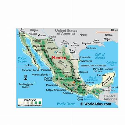 Mexico Map America Mexican States North Geography