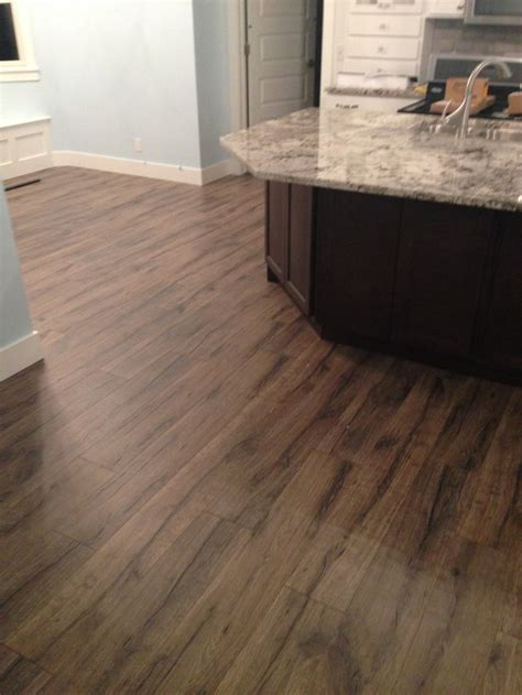 kitchen remodel featuring quick step heathered oak
