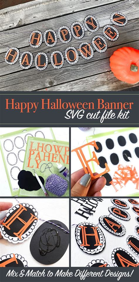 .banners svg files also makes great vector design elements for web and graphic design projects and are compatible with adobe illustrator, coreldraw, inkscape, and other vector programs that open. DIY Happy Halloween Banner SVG Kit - 100 Directions