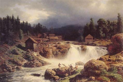 norwegian landscape paintings herzog painting herman oil artist painter american canvas reproduction handmade 1857 deco landscapes repro 1932 1832 allartclassic