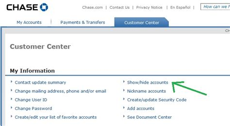 How To Hide An Inactive Chase Account Online
