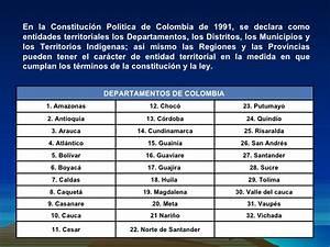 Region y organizacion politico administrativa de Colombia