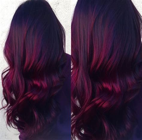 Vibrant Hair by Velvet Balayage Roots With Vibrant Burgundy